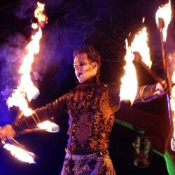 Große Halloweennacht Bühnenbild