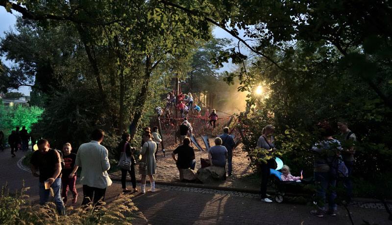 Die große Zoonacht im Bergzoo Halle am 6. August 2016.