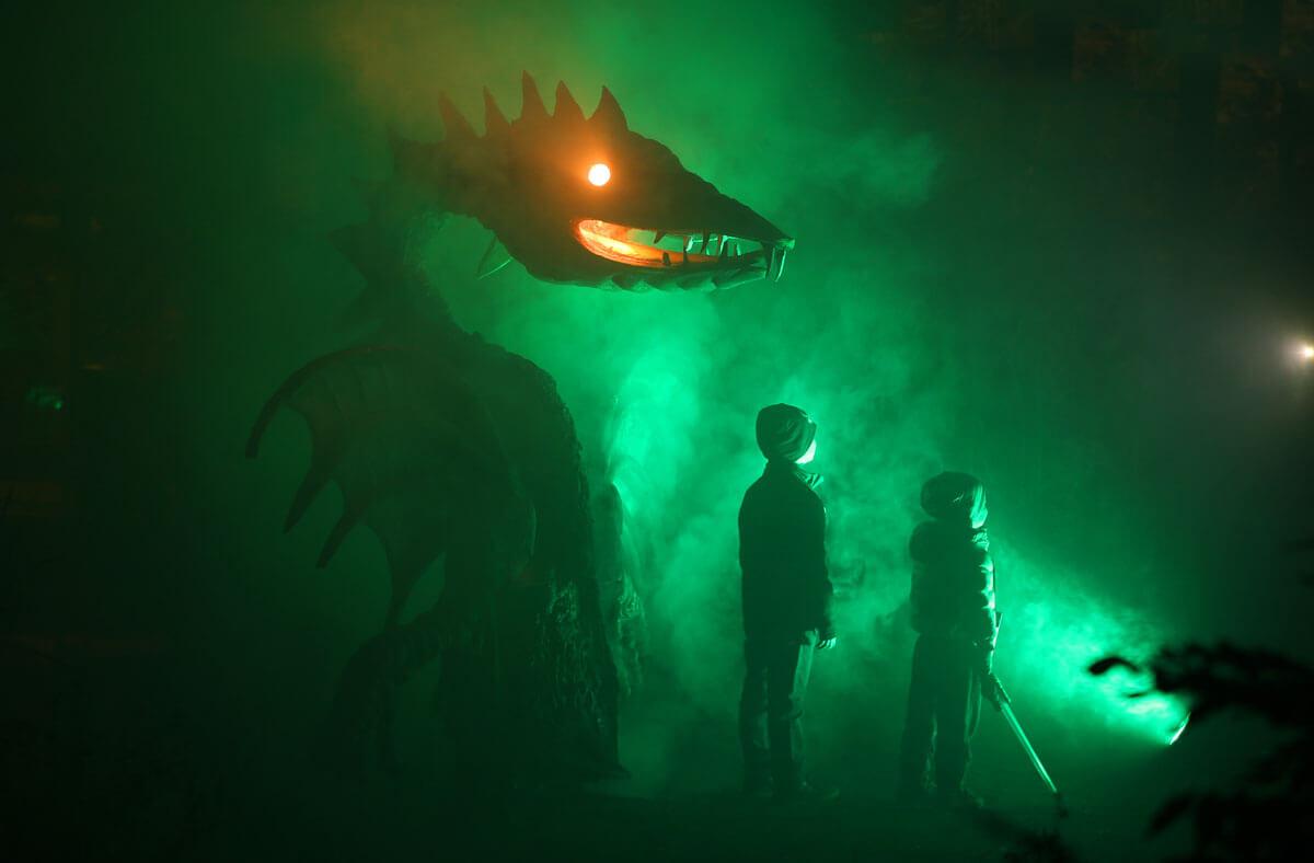 30.10.2016 Halloween im Bergzoo Halle, die größte Halloween-Party in Mitteldeutschland, mit fast 7000 Besucher der Tagesbesucherrekord in der Geschichte des Zoos (c) Steffen Schellhorn